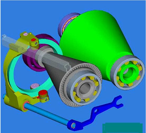 汽车无级变速机结构图